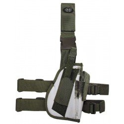 Tactical Holster, winter camo, leg- and belt fixing, right