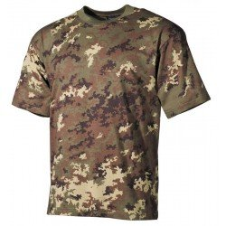Камуфлажна тениска MFH, класическа кройка, Vegetato Woodland