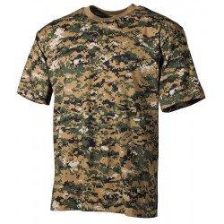 Камуфлажна тениска MFH, класическа кройка, Digital woodland