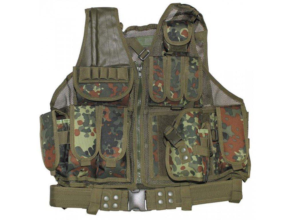 Тактическа жилетка MFH USMC, с колан, кобур, BW camo