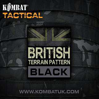 KOMBAT UK BTP BLACK BANNER